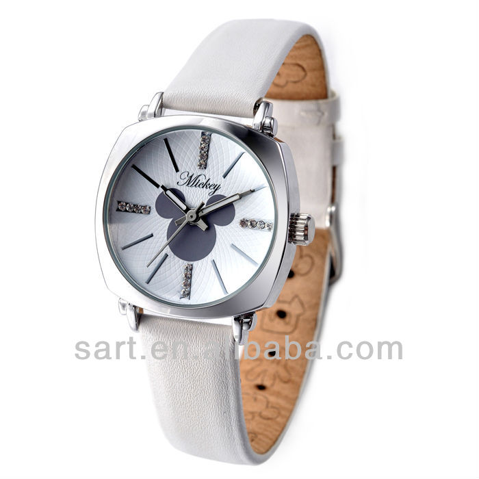 cute white colour cartoon quartz stainless steel watch resistant