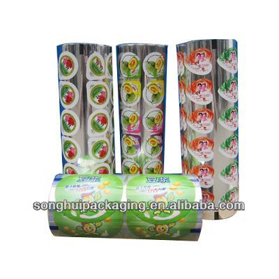 plastic cup sealing film for yoghourt / jelly / milk tea/ soy milk