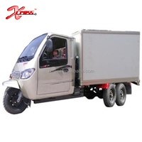 800cc Cargo Tricycle 5 Wheels Water Cooled Four Cylinders Engine Three Wheel Motorcycle Sealed Box For Sale Power King 800C
