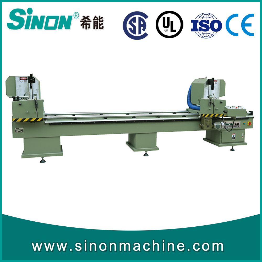 Double mitre saw pvc window making equipment