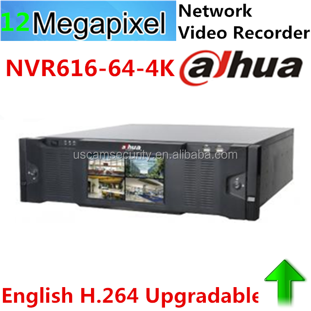 NVR616-64-4K Dahua 64CH ONVIF NVR with Front LCD Display