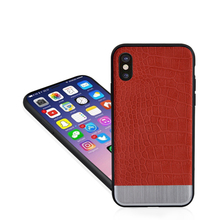 Multi color Soft TPU Case For iPhone X PU Leather Shell Phone Cover