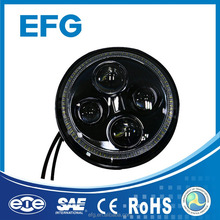 12V-24V 40W 6000LM 7 inch Round LED Headlight with Halo Ring for Jeep Wrangler JK Accessories