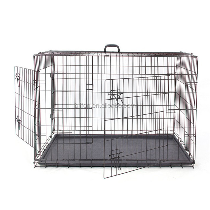 Folding Metal Dog Crate wire dog crate dog cages pet crate dog houses dog carrier dog kennel Foldable dog crate