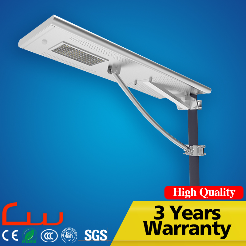 Intergrated lamp high lumens 40W led all in one solar street light
