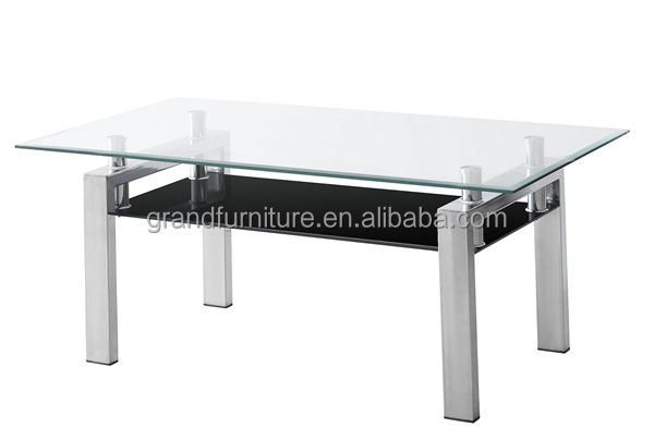Modern style cheap price glass metal glass coffee for dining room