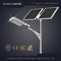 12v 20w led lamp antique lighting pole solar street light