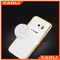 Starring Glitter Bling Plating Gilded TPU Clear Phone Case For Samsung Galaxy Note 4 N9100 Silicone