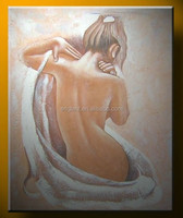 Oil paintings nude girl art picture for sexy body