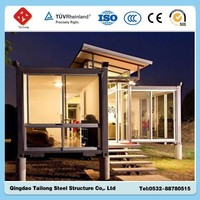 Low cost folding container house
