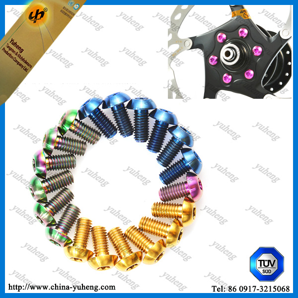 M5 colorful titanium bolt for hardware bicycle ,motocycle,car