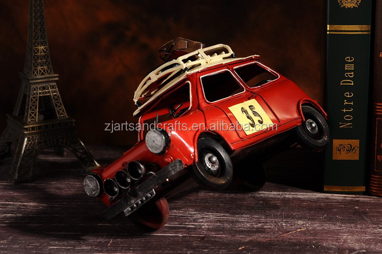 Metal crafts decorative vintage handmade car model for home decoration