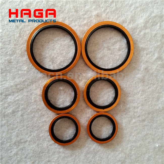 Brass/ Stainless steel/ Plated metal O Rings bonded washer