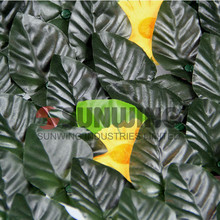 artificial hedge privacy screen plants garden green leaf fence