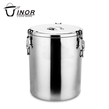 Different size keep food warm stainless steel soup container for restaurant