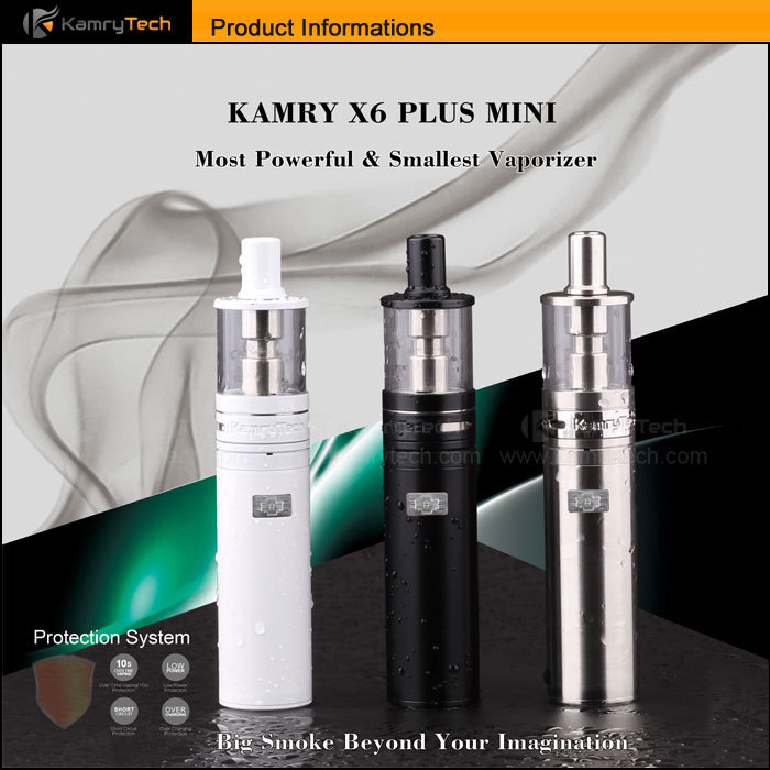 Slim ego e cigarette huge vapor 0.5ohm atomizer coil tank Kamry Mini x6 plus ecig vape pen