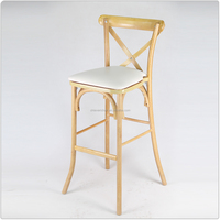 Strong Banquet Wedding Solid Oak Wood Cross Rustic X Back Side Chair