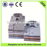 Hot selling high quality 100% cotton 2013 mans new fashion dress shirt OEM service