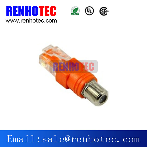 F Type Female Connector to RJ45 Adapter