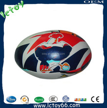 Custom cute leather material stuffed gilbert rugby ball