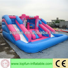 newest inflatable water slide combined with bouncer