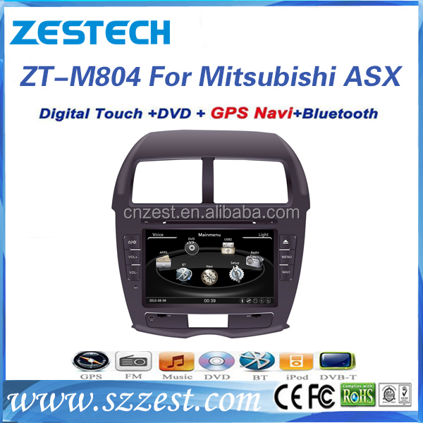 Zestech factory touch screen car radio gps for Mitsubishi ASX dvd cd mp3 mp4 player best car radio antenna