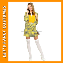 PGWC3755 Clueless Cher Women Costume High Quality Men 90s Halloween Cosplay Costume Wholesale