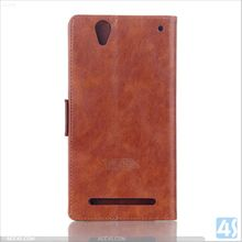 High End PU Leather Cell Phone Case for Sony Xperia T2 Ultra P-SONT2SPCA003