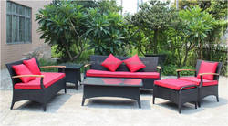 Outdoor Rattan Furniture teak wooden 3/2/ single sofa coffee table end table
