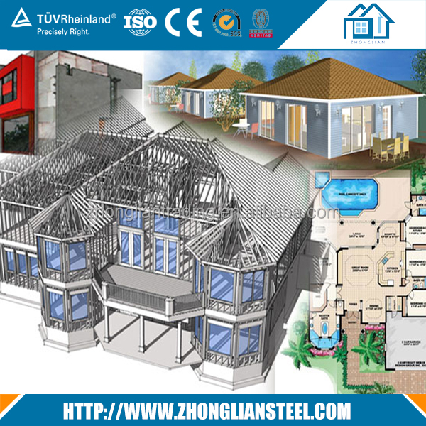 Prefabricated Australian AS1163 Light steel structure durable house