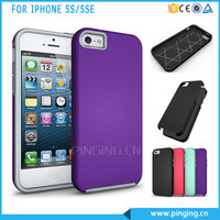 Hard Anti-Slip Armor Mobile Phone Cover For iphone 5 Se TPU PC Back Case