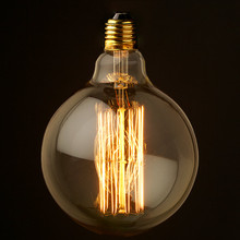 Special filament led bulb of lighting e27 g125 40w vintage decoration e27 edison bulb light