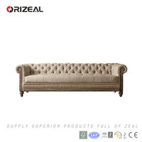 ORIZEAL SCROLL-ARMS AND TUFTED CHEAP DECONSTRUCTED CHESTERFIELD SOFAS(OZ-FS-2038)