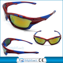 Top grade and hot selling sports sunglasses ,made in china sports eyewear sunglasses