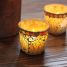 Popular turkish handmade glass mosaic candle holder table lamp mosaic for home deco