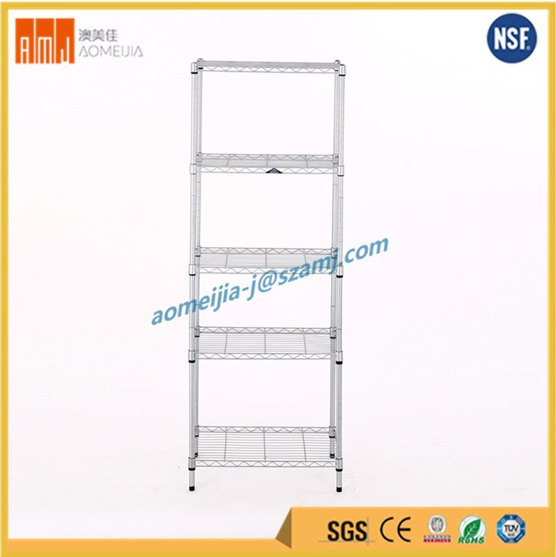 Assemble mesh decking 5 Tier wire shelving stainless steel for Home Storage