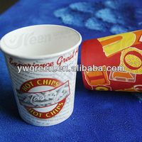 high quality cheap coated paper snack cup / french fry