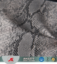 Snake Print Hot Selling PVC Synthetic/Rexine Leather/Fabric for making Bags,Case,Decorative,Shoes,ect