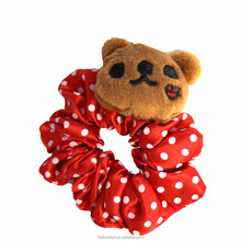 JC252-doll accessories-Teddy bear with pokadot pattern hair tie-fits for 18 inch doll