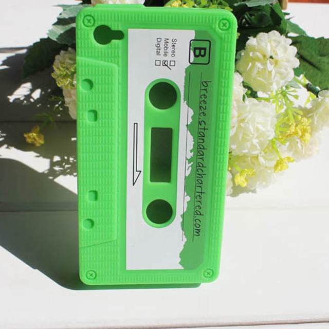 OEM silicone skin cassette tape case for iphone 6