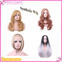 2016 Hot Sale Wholesale Red And White Long Human Hair Wig