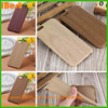 luxury slim pc simple mobile phone case name brand cell phone pc wood pu cases for iphone 6/6s