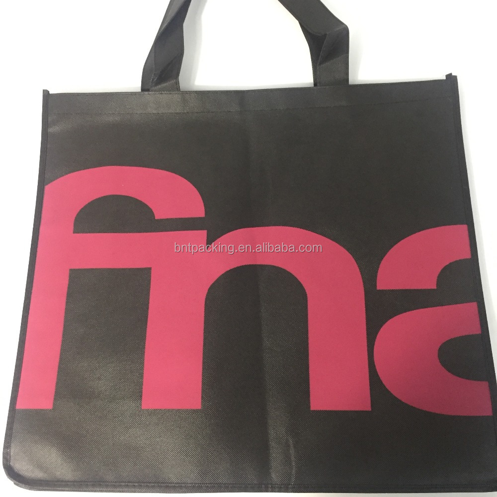 high quality small custom reusable recyclable folding promotional non-woven shopping bag