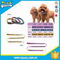 Washable Nylon Lead Dog Leash Joint Collar