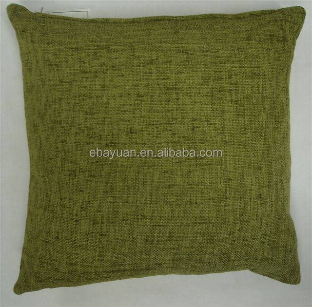 Green decorative sofa chenille cushion home decor throw pillow