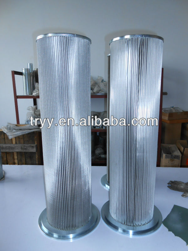 High quality hydraulic pleated oil filter cartridge for the industrial machine