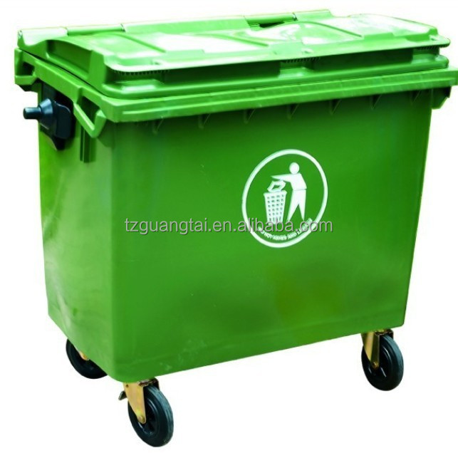 660L large wheeled Eco-Friendly Feature and Outdoor Usage plastic trash can