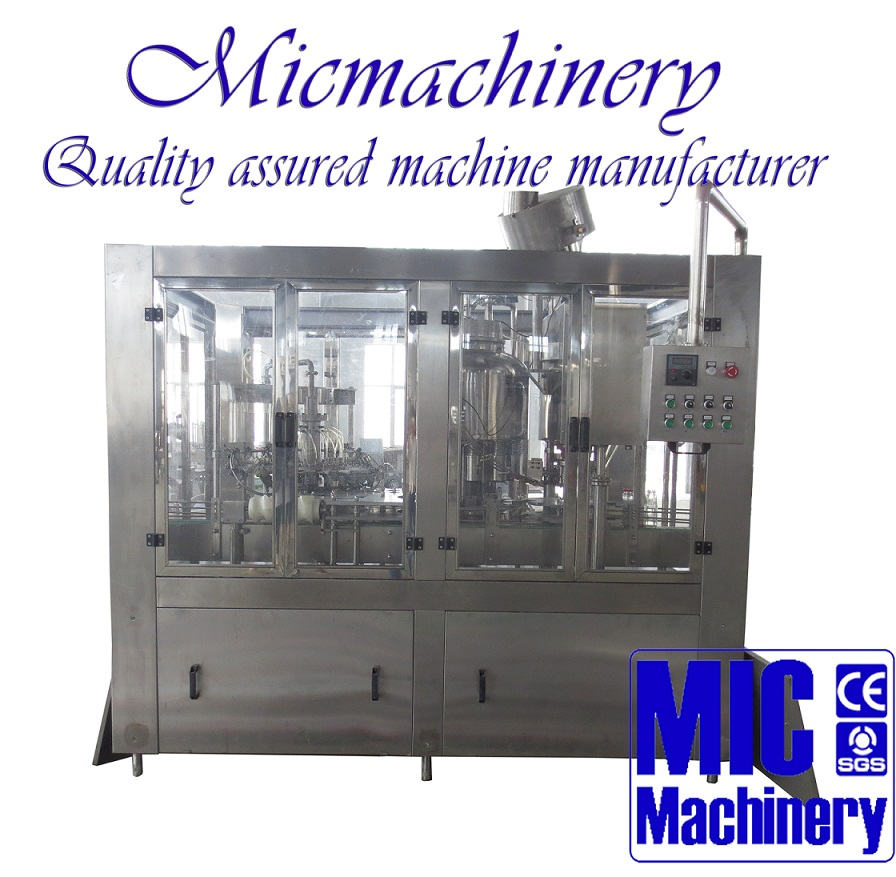 MIC-12-12-1 Top quality glass bottle fruit juice production line exported New Zealand 800-2500bph with CE