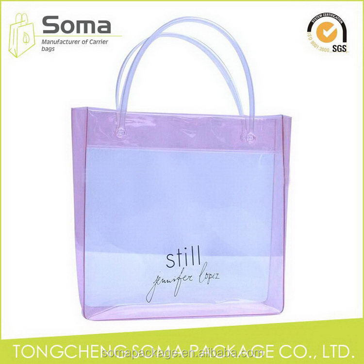 Diversified latest designs crazy selling pvc bag with header