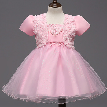 C00212#Children's Fashion party dress baby girl two-piece suits baby frock design pictures